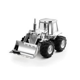 Spaarpot Zilver buldozer
