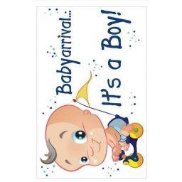 Geboorteplaat it's a boy