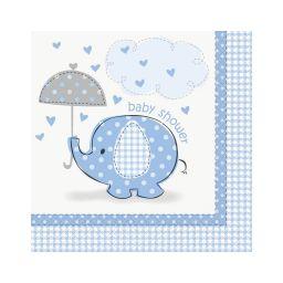 Babyshower servetten olifant blauw