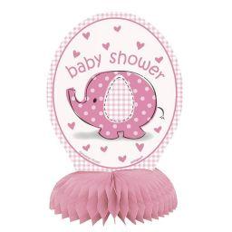 Babyshower tafeldecoratie olifant roze