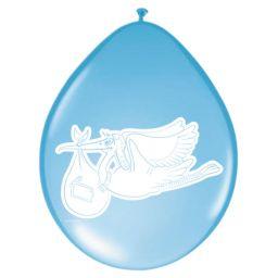 Ballonnen ooievaar blauw