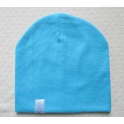 Beanie babymuts aqua blauw