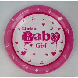Bordje  a little baby girl groot per 10 stuks