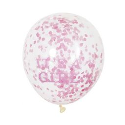 Confetti ballonnen it's a girl