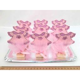 Dienblad bedankjes fotoclips roze