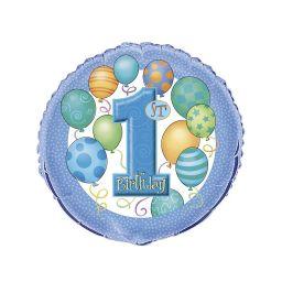 Folieballon 1e verjaardag blauw