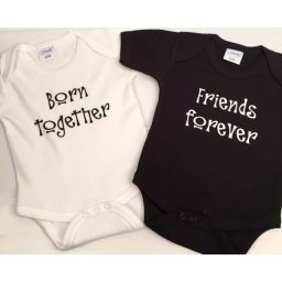 Romperset tweeling together/ forever