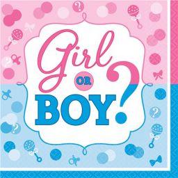 Servetten Girl or Boy (16 stuks)