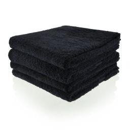 Funnies handdoek zwart (evt. borduren)