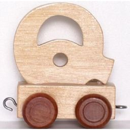 Houten Lettertrein wagon Q