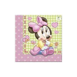 Minnie Mouse Baby servetten 33x33cm  20 stuks