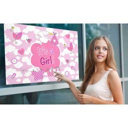 It's a girl raamvlag