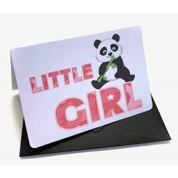 Kaart panda girl