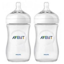 Avent natural fles 2 x 260 ml, duoverpakking