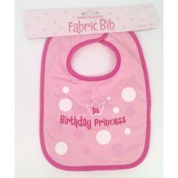 Slabbetje met tekst 1st birthday princess