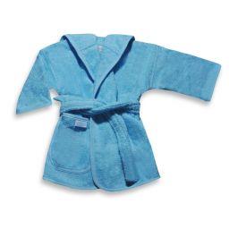 Badjas zacht blauw 0-12 mnd