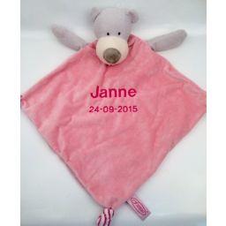 Tutdoek beer groot roze