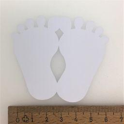 Bedankkaartje voetjes wit