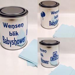 Wensenblik babyshower blauw