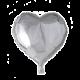 Helium ballon hart zilver 46 cm