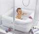 Babybad baby watch in gebruik