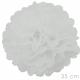 Pompon 2 stuks wit