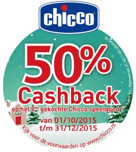 Chicco 50% cashback actie